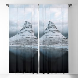 Kirkjufell Mountain in Iceland - Landscape Photography Blackout Curtain