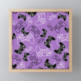 Video Games Lavender Framed Mini Art Print