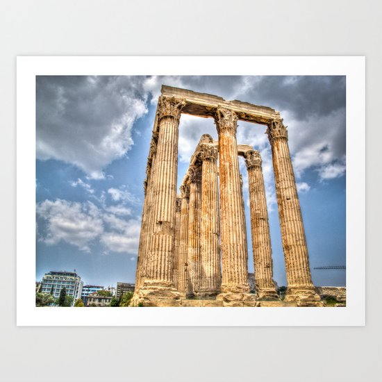 Temple of Zues Art Print
