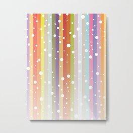 Snow falls on the rainbow Metal Print