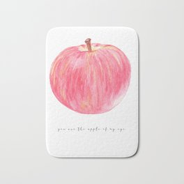 You are the apple of my eye / watercolour poster Bath Mat