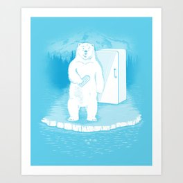 Save the polar bears, make more ice cubes. Art Print