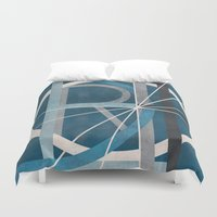 detroit Duvet Covers featuring Detroit by Katrina Berlin Design