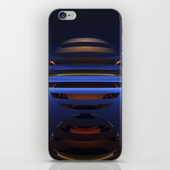 Split Spheres (Night) iPhone & iPod Skin