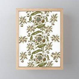 Seek Knowledge Folk Art Pattern Framed Mini Art Print