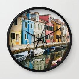 Burano in winter III Wall Clock
