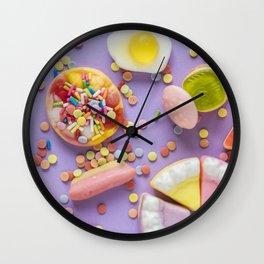 Pastel Rainbow Candy Wall Clock