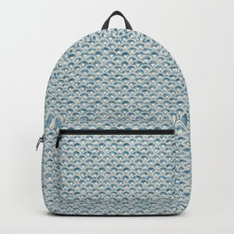 Fish Scales Geometric Pattern in Blue Green Backpack