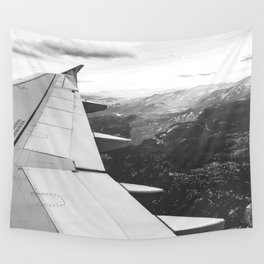 Mountain State // Colorado Rocky Mountains off the Wing of an Airplane Landscape Photo Wall Tapestry