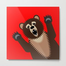 The Bear Says Boo Metal Print