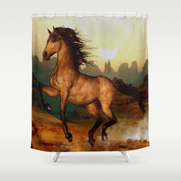 HORSES-Prairie dancer Shower Curtain