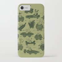 cars iPhone & iPod Cases featuring Critter Cars by WanderingBert / David Creighton-Pester
