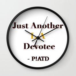L.A Devotee Wall Clock