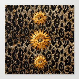 Animal Print Cheetah Triple Gold Canvas Print