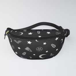 goth occult pattern Fanny Pack