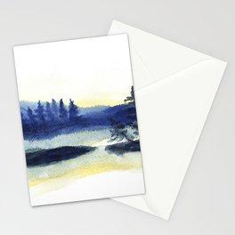 Sunset landscape painting Stationery Cards