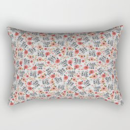 Pretty Sweary: Fuckity Fuck Fuck- Grey Rectangular Pillow