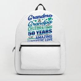 Gold Wedding Anniversary Grandma and Grandpa Celebrating 50 Years Love Backpack
