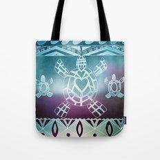 Tribal Sea Turtle Tote Bag
