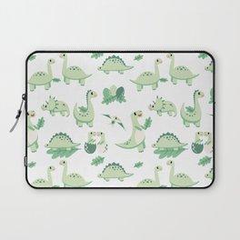 Dinosaur Mini - Green Laptop Sleeve