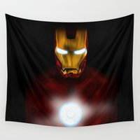 ironman Wall Tapestries featuring ironman by Fila Venom Art