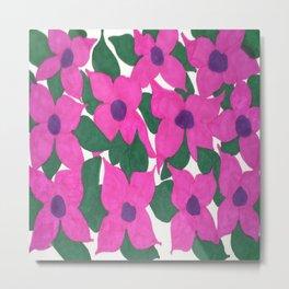 Spring Classic Pink Flowers Metal Print