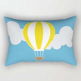 Hot Air Balloon Illustration Rectangular Pillow