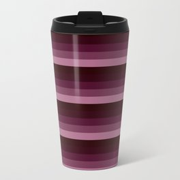 Burgundy stripes Travel Mug