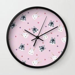 Bunny ^ Wolf Wall Clock