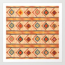 Southwestern Motif in Beige Art Print