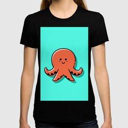 Kids Nursery Decor Cute Orange Octopus T-shirt