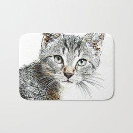 Sketchy Cat 3 Bath Mat