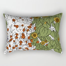 Great Prairie with Sunflowers Rectangular Pillow