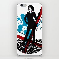 cage iPhone & iPod Skins featuring CAGE by AURA-HYSTERICA