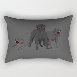 Hounds - by Rui Guerreiro Rectangular Pillow