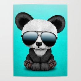 Cute Baby Panda Wearing Sunglasses Poster