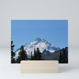 Snow Cap on the Mountain Mini Art Print