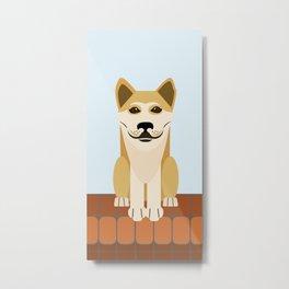 Shiba dog vector Metal Print