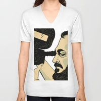 kubrick V-neck T-shirts featuring kubrick by Le Butthead