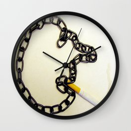 Chain Smoking Wall Clock