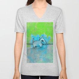 Dog No.1l by Kathy Morton Stanion Unisex V-Neck