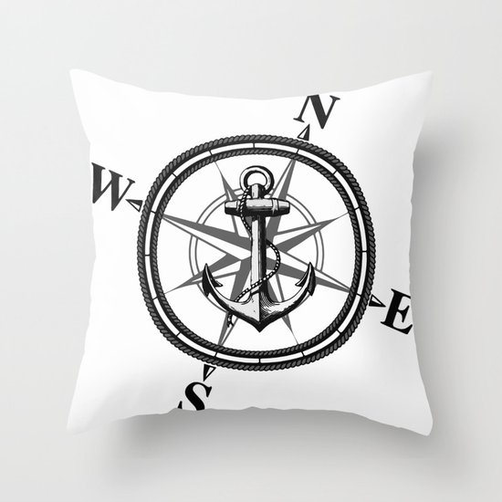 Nautica BW Throw Pillow