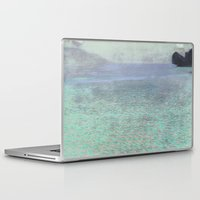gustav klimt Laptop & iPad Skins featuring Klimt at Attersee by anipani