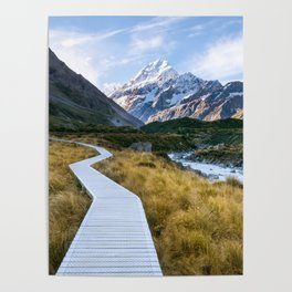 Mt.Cook New Zealand - A hikers dream Poster