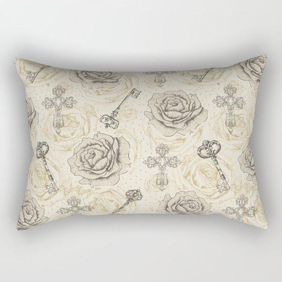 Roses & keys Rectangular Pillow