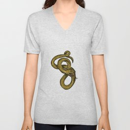 Viper Coiled Ready To Pounce Drawing Unisex V-Neck
