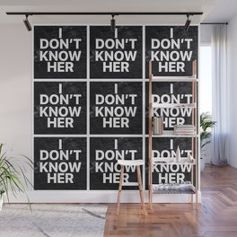 I Don't Know Her Wall Mural