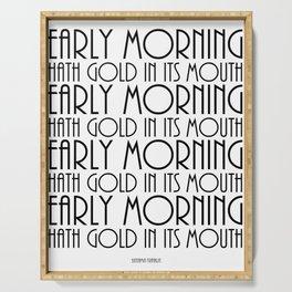 benjamin franklin quote, typography art Serving Tray
