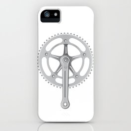 Campagnolo Track Chainset, 1974 iPhone Case
