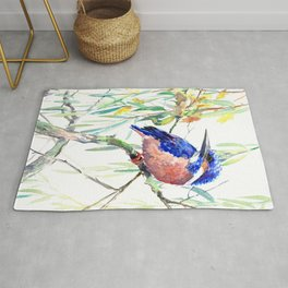 Kingfisher and Willow Rug